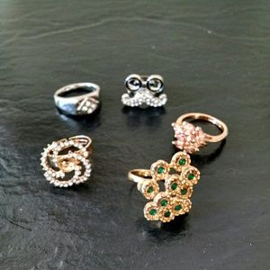 Jewelry - Costume Cocktail Ring Bundle